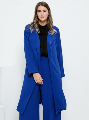 Saxe - Unlined - Shawl Collar - Plus Size Coat