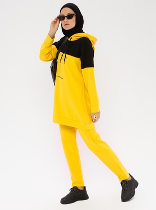 Yellow - Cotton - Tracksuit Set