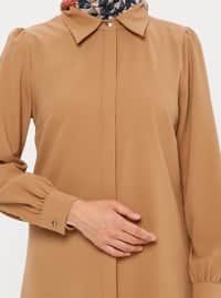 Brown - Point Collar - Tunic