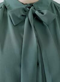 Green - Point Collar - Tunic
