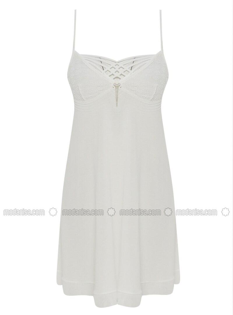 White - Ecru - Nightdress