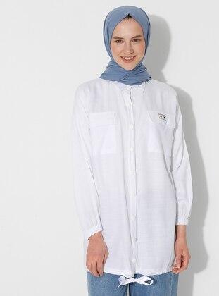 Ecru - Point Collar - Tunic
