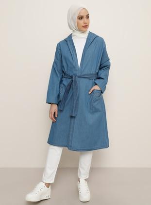 Blue - Unlined - Denim -  - Topcoat