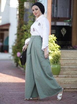 Sea-green -  - Pants