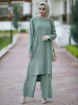 Sea-green - Unlined -  - Suit