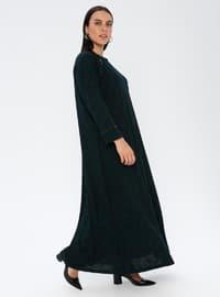 Emerald - Unlined - Crew neck - Plus Size Dress
