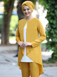 Mustard - Unlined - Crepe - Suit