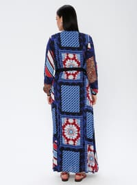 Saxe - Multi - Unlined - Crew neck - Viscose - Plus Size Dress