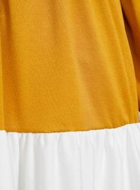 Ecru - Khaki - Mustard - Crew neck - Tunic