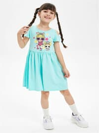 Turquoise - Girls` Dress