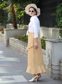 Mustard - Unlined -  - Skirt