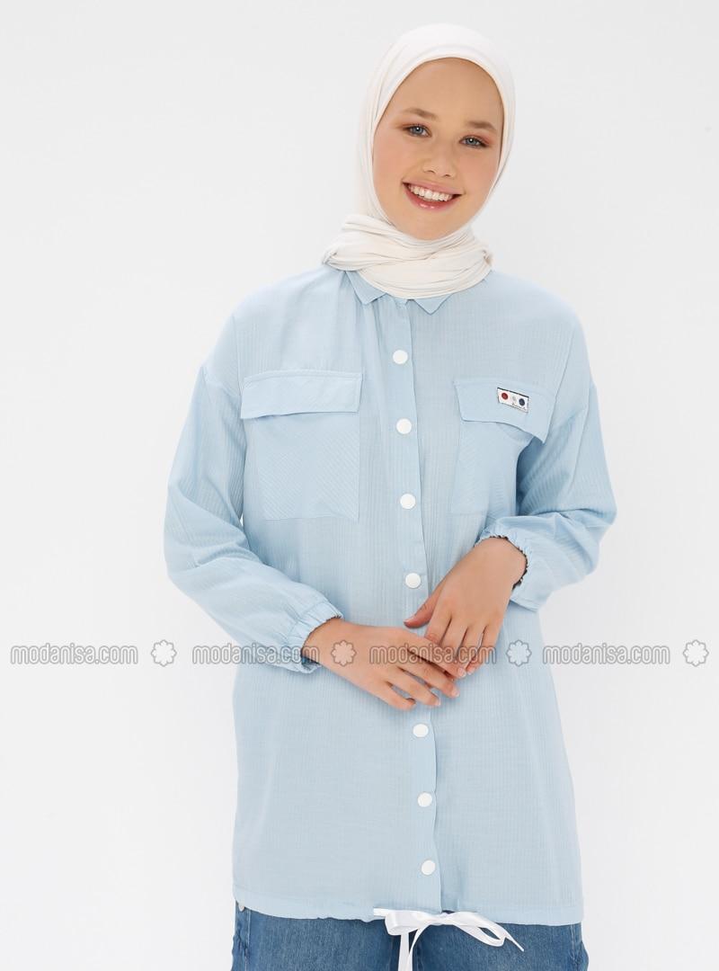 Blue - Point Collar - Tunic