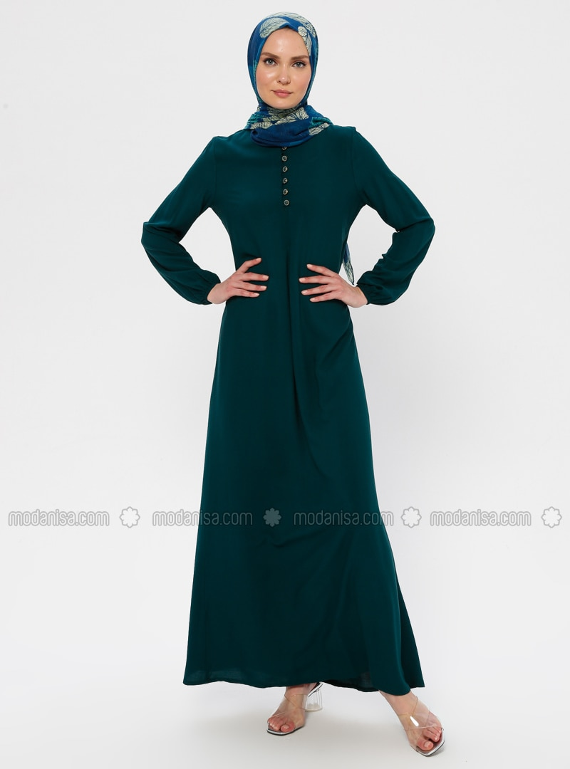 Emerald - Crew neck - Unlined - Viscose - Dress