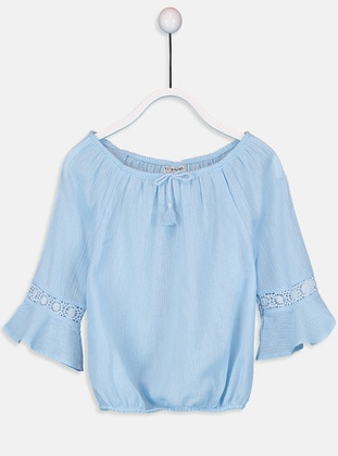 Blue - Girls` Blouse - LC WAIKIKI