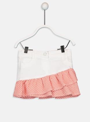 Printed - White - Baby Skirt