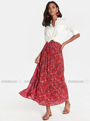 Printed - Red - Skirt