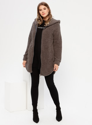 Smoke - Unlined - Plus Size Coat