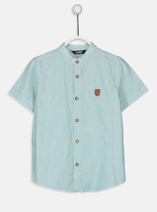 Stripe - Blue - Boys` Shirt - LC WAIKIKI