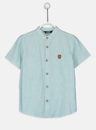 Stripe - Blue - Boys` Shirt - LC WAIKIKI
