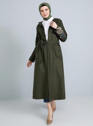 Khaki - Fully Lined - Acrylic -  - Coat