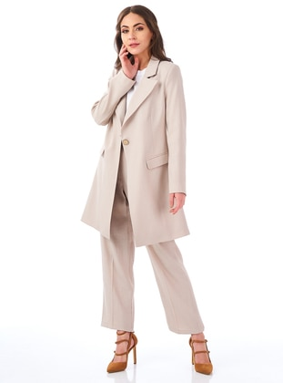 Beige - Fully Lined - Suit