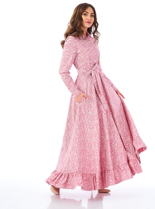 Dusty Rose - Point Collar - Unlined -  - Dress