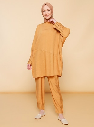 Mustard - Unlined - Nylon - Viscose - Suit