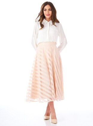 Powder - Stripe - Fully Lined - Skirt