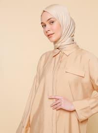 Bej - Astarsız kumaş - Viskon - Takım Elbise