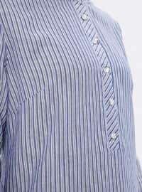 Indigo - Stripe - Crew neck -  - Tunic