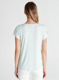 Crew neck - Turquoise - T-Shirt