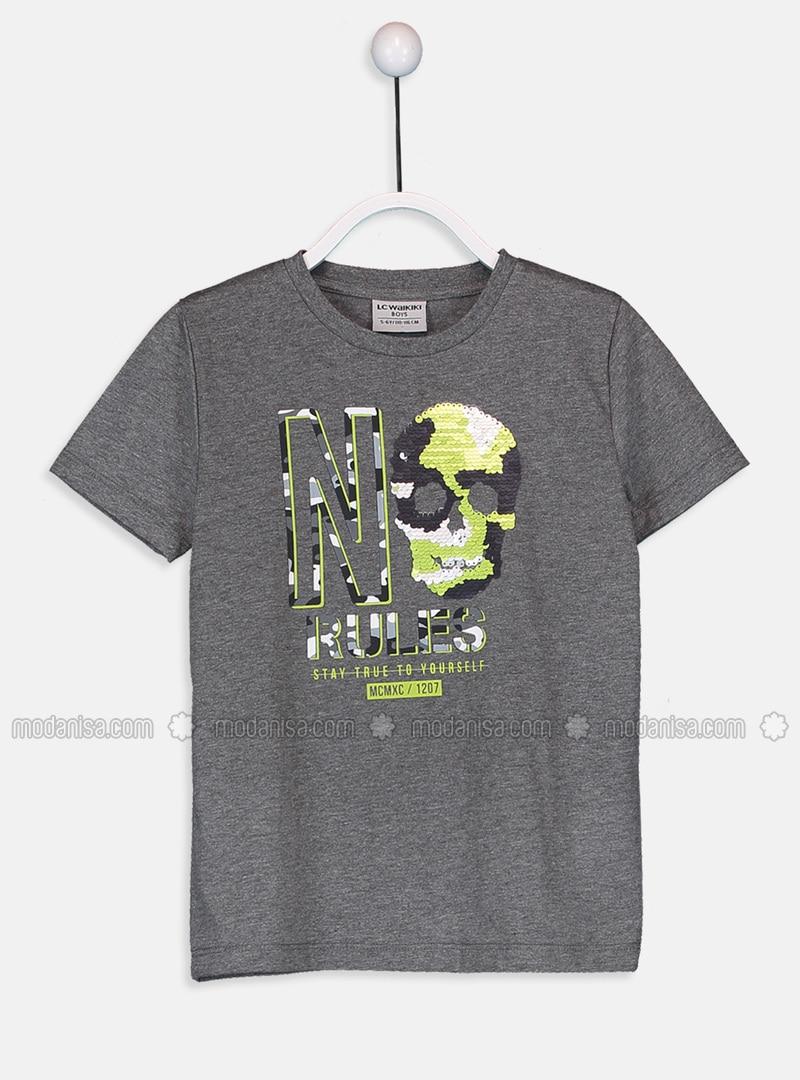 Crew neck - Anthracite - Boys` T-Shirt
