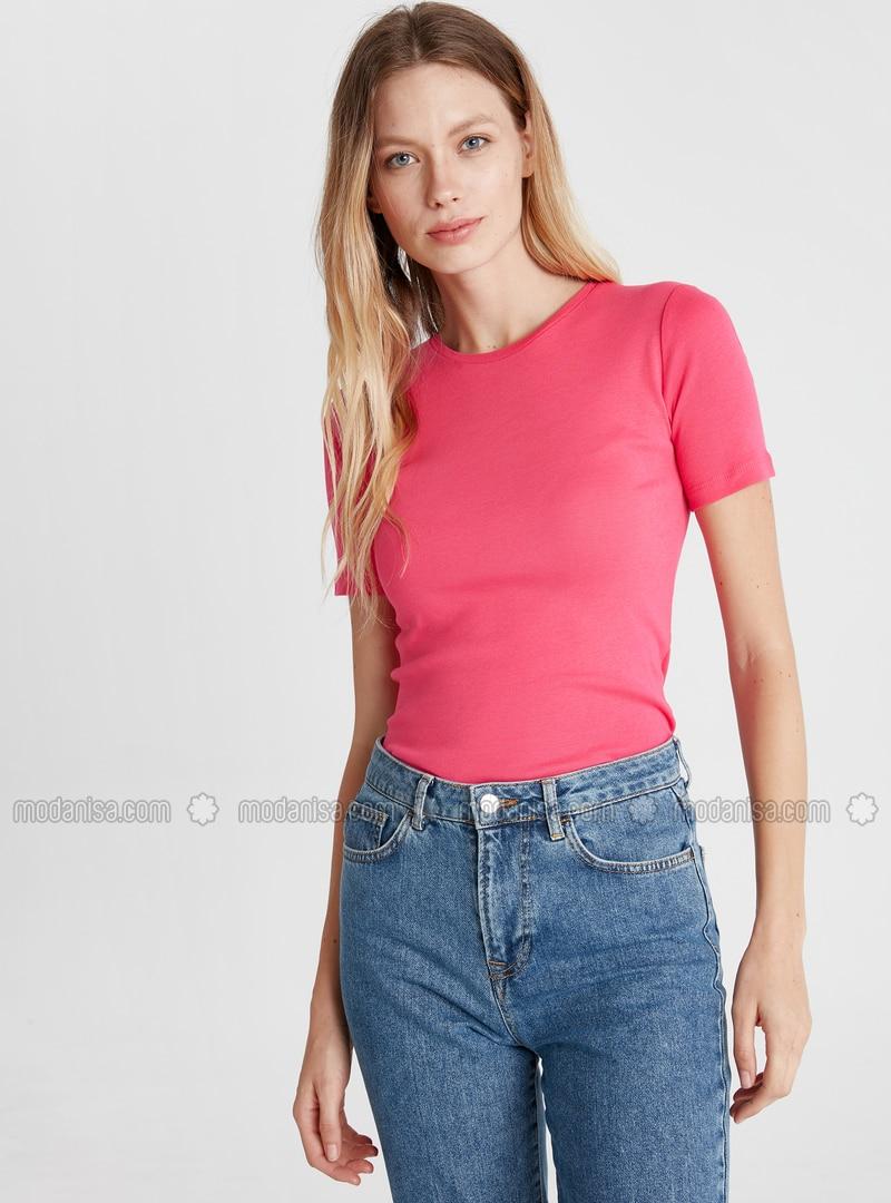 Crew neck - Fuchsia - T-Shirt