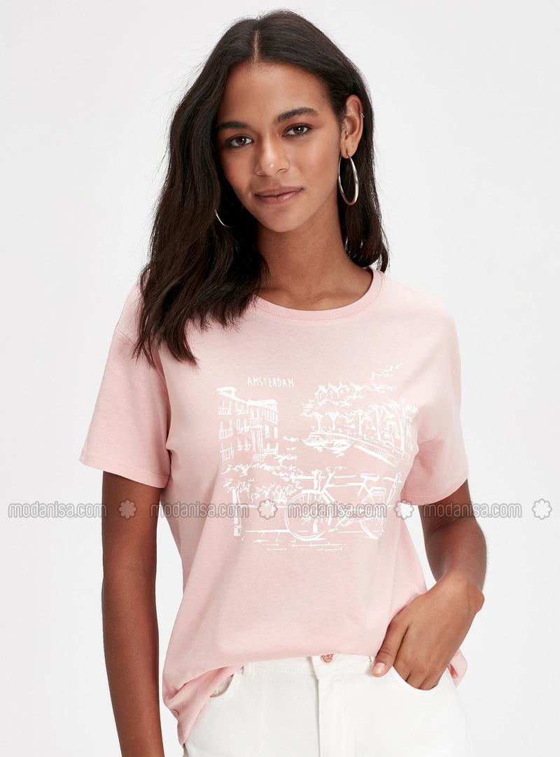 Crew neck - Pink - T-Shirt