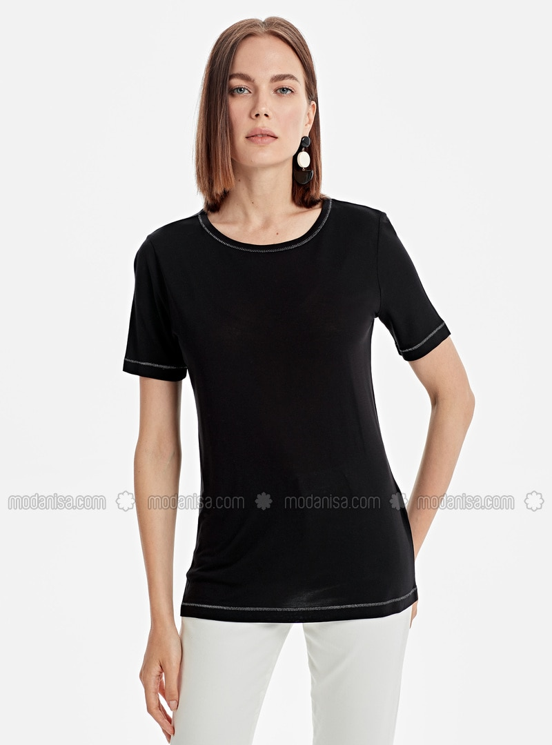 Crew neck - Black - T-Shirt