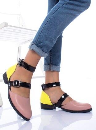Powder - Yellow - Flat - Flat Shoes