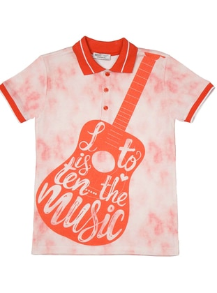 Polo - Multi - Red - Boys` T-Shirt