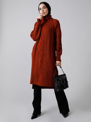 Cinnamon - Polo neck - Acrylic -  - Jumper - Refka