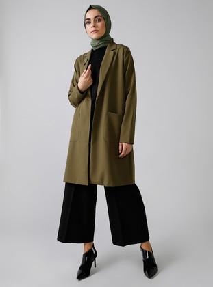 Khaki - Fully Lined - Shawl Collar - Topcoat
