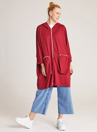 Stripe - Maroon - Sweat-shirt