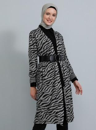 Black - Multi - Zebra -  - Cardigan