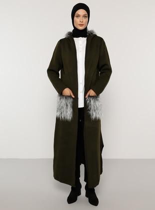Khaki - Acrylic -  - Cardigan - Refka
