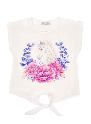 Crew neck - Unlined - Girls` Blouse