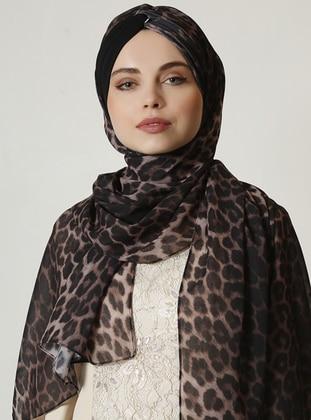 Leopard - Black - Leopard - Shawl