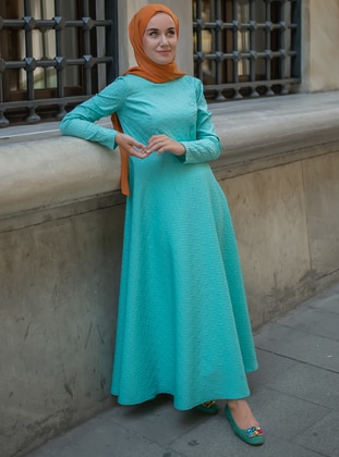 Turquoise -  - Dress