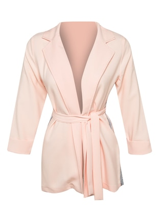Pink - Unlined - Shawl Collar -  - Jacket