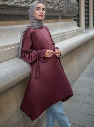 Plum - Viscose - Tunic