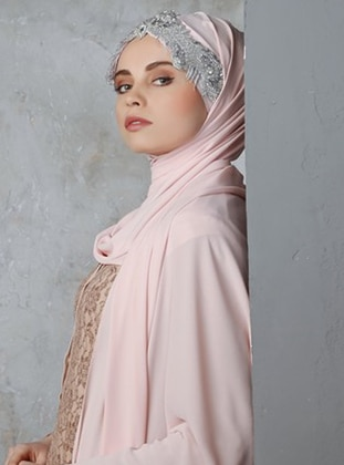 Silver tone - Powder - Litho - Shawl
