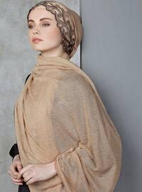 Camel - Lace - Shawl
