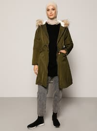 Khaki - Unlined - Coat